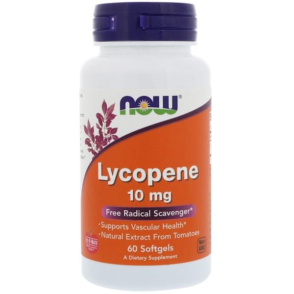 Ликопен, 10 мг, 60 мягких желатиновых капсул