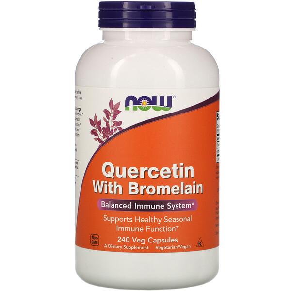 Кверцетин с бромелаином, 240 растительных капсул