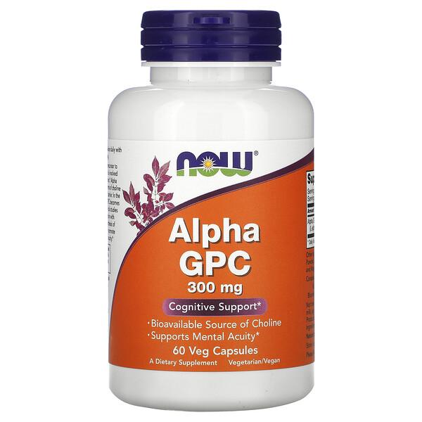 Альфа-GPC (альфа-глицерофосфохолин), 300 мг, 60 капсул