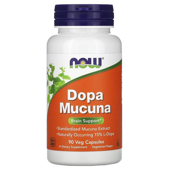 Now Foods, Mucuna Dopa, 90растительных капсул