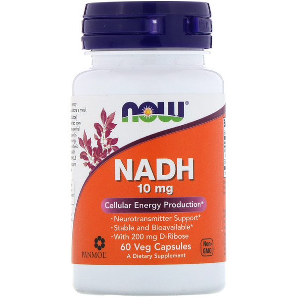 Now Foods, НАДН, 10 мг, 60 растительных капсул