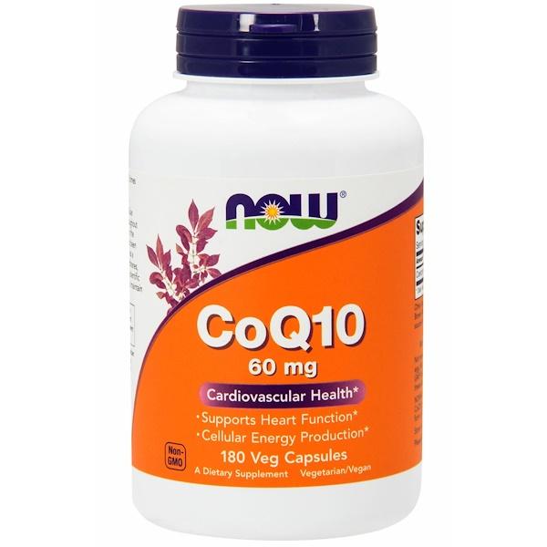Коэнзим Q10, 60 мг, 180 вегетарианских капсул
