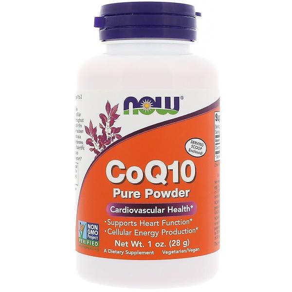 Коэнзим Q10, 100% чистый порошок, 1 унций (28 г)
