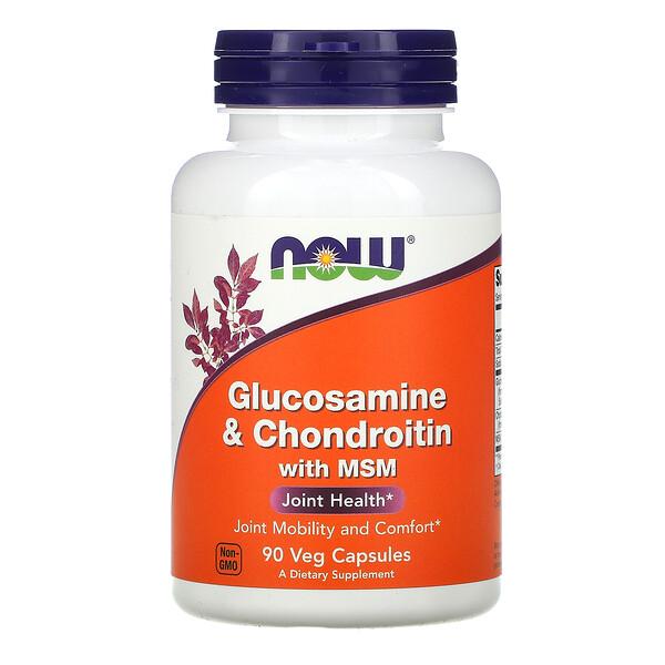 Глюкозамин и хондроитин с MSM, 90 капсул