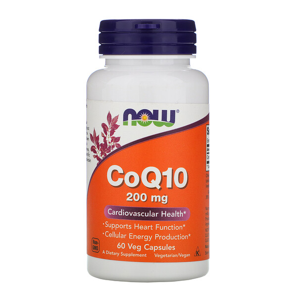 CoQ10, 200 мг, 60 веганских капсул