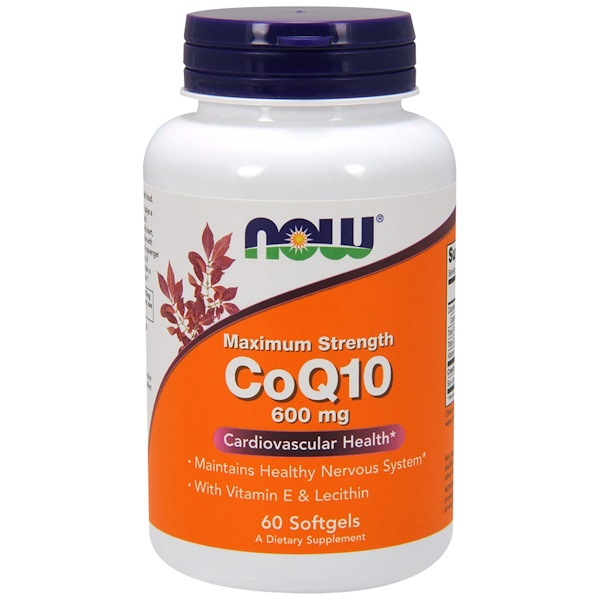CoQ10, 600 мг, 60 мягких желатиновых капсул