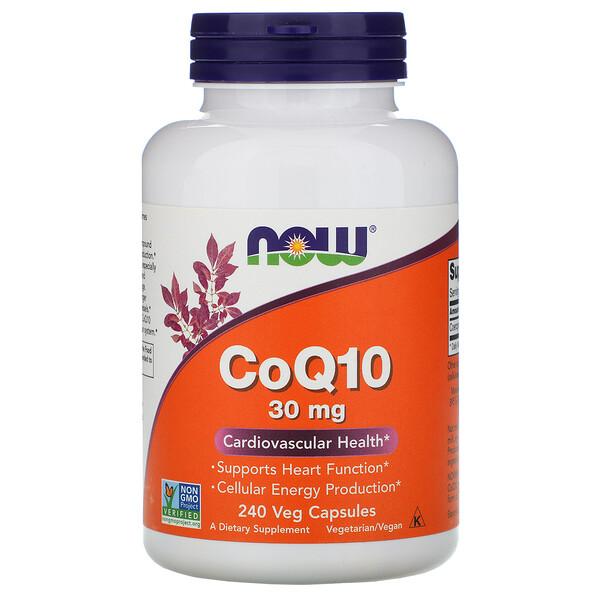 Now Foods, CoQ10, 30 мг, 240 растительных капсул