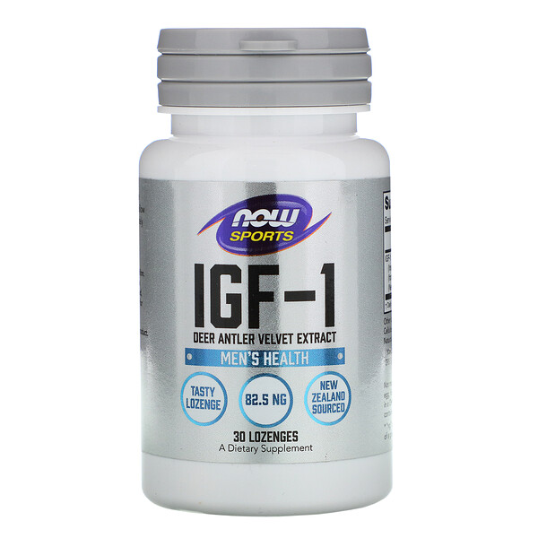 Now Foods, Sports, IGF-1, Men's Health, 30 Lozenges