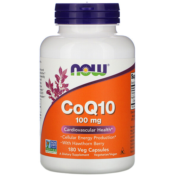 CoQ10 with Hawthorn Berry, 100 mg, 180 Veg Capsules