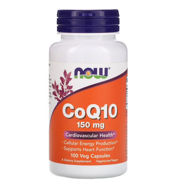 CoQ10, 150 мг, 100 растительных капсул