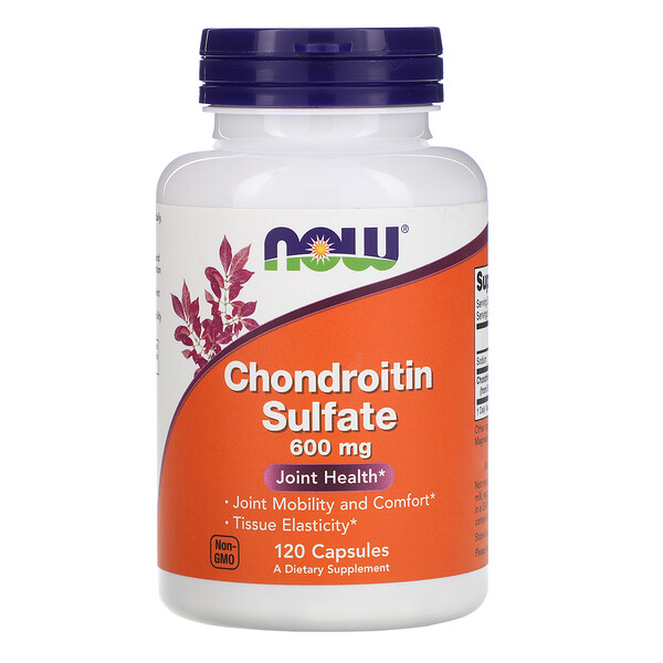 Now Foods, Chondroitin Sulfate, 600 мг, 120 капсул