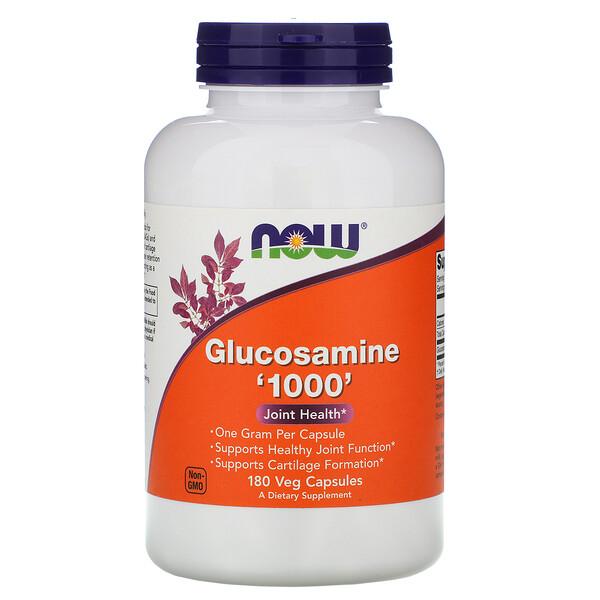 Now Foods, Глюкозамин '1000', 180 растительных капсул