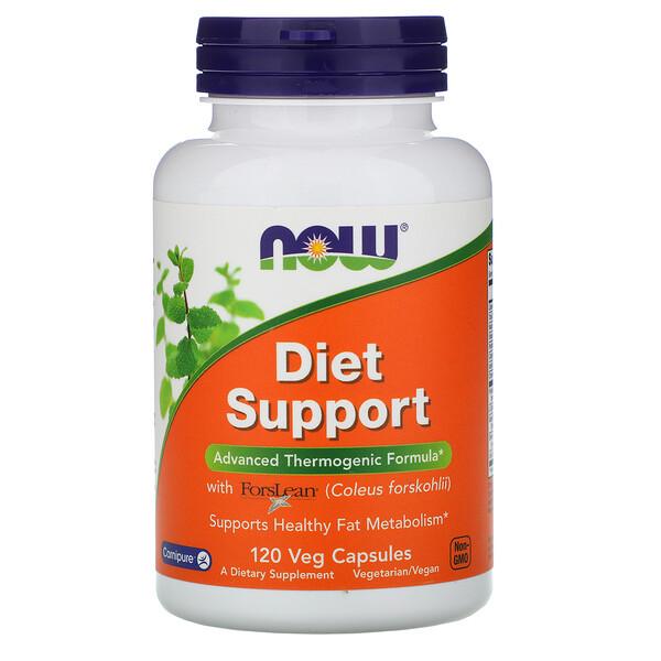 Now Foods, Диетическая поддержка, 120 растительных капсул