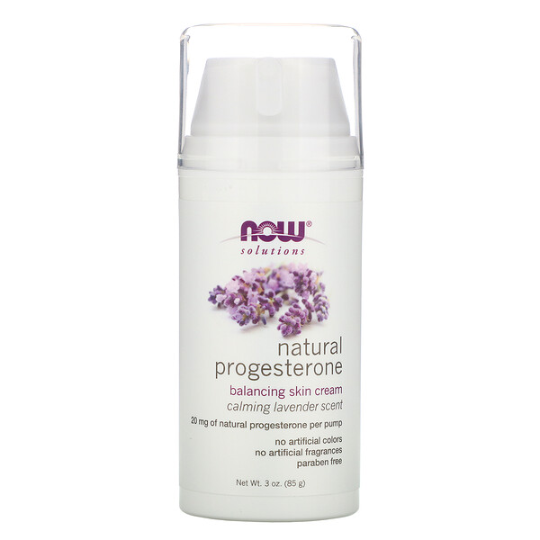 Solutions, Natural Progesterone, Balancing Skin Cream, Calming Lavender Scent, 3 oz (85 g)