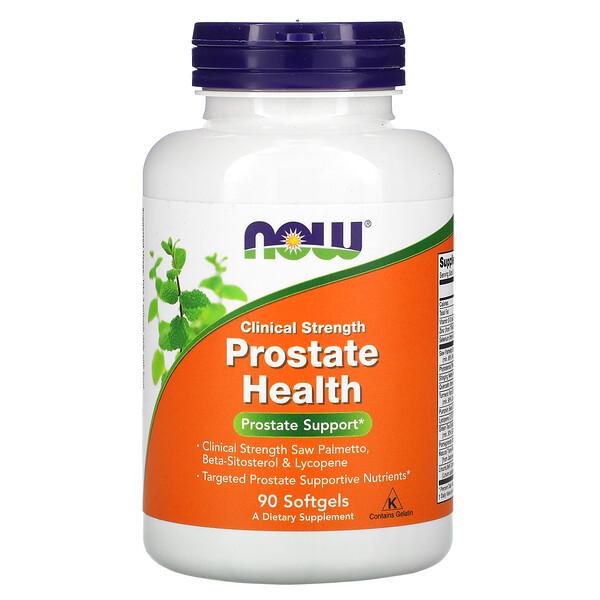 Now Foods, Clinical Strength, добавка для здоровья предстательной железы, 90капсул