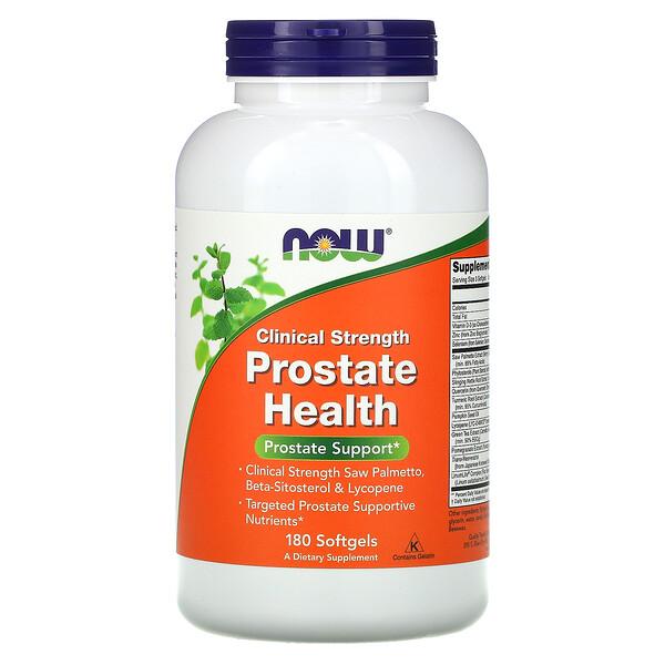 Now Foods, Clinical Strength, добавка для здоровья предстательной железы, 180капсул