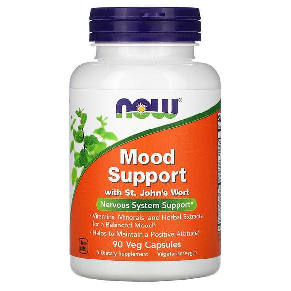 Now Foods, Mood Support со зверобоем, 90растительных капсул