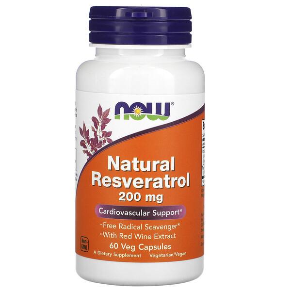 Натуральный Ресвератрол, 200 мг, 60 растительных капсул