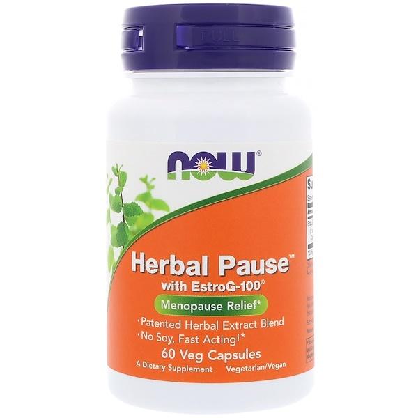 Now Foods, Herbal Pause с EstroG-100, 60 вегетарианских капсул