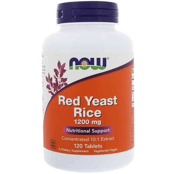 Now Foods, Красный ферментированный рис, 1200 мг, 120 таблеток