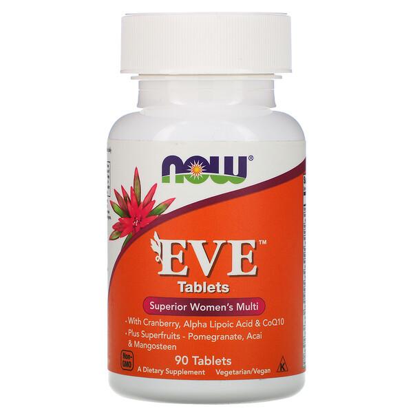 Now Foods, Ева, улучшенные женские мультивитамины, 90 таблеток
