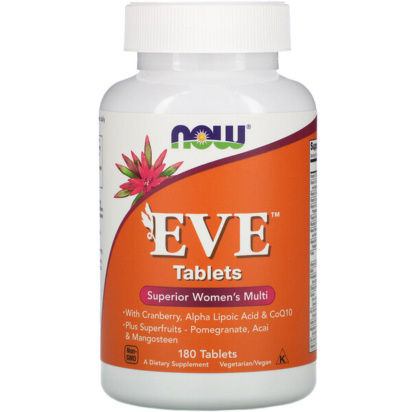 Таблетки Eve, Улучшенный мультивитаминный комплекс для женщин, 180 таблеток