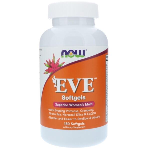 Now Foods, EVE, превосходные мультивитамины для женщин, 180 мягких таблеток