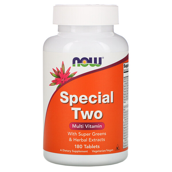 Now Foods, Special Two, мульти-витамины, 180 таблеток (Discontinued Item)