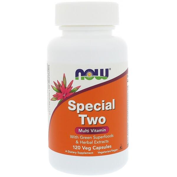 Now Foods, Special Two, мультивитамины, 120 растительных капсул