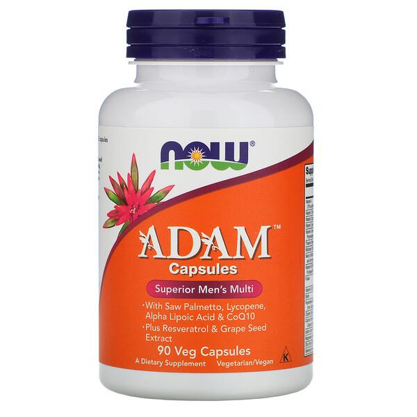 ADAM, превосходные мультивитамины для мужчин, 90 растительных капсул