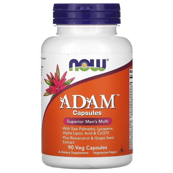 Now Foods, ADAM, превосходные мультивитамины для мужчин, 90вегетарианских капсул