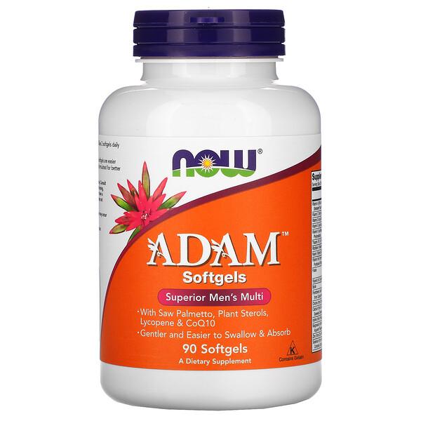 ADAM, превосходные мультивитамины для мужчин, 90мягких таблеток