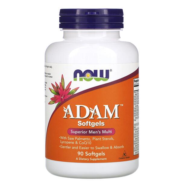 ADAM, высококачественный мультивитаминный комплекс для мужчин, 90 мягких капсул