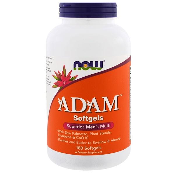 ADAM, превосходные мультивитамины для мужчин, 180 мягких таблеток