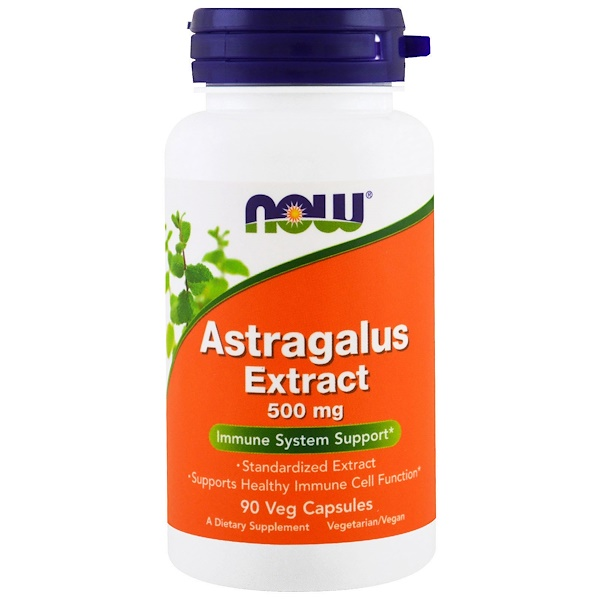 Now Foods, Astragalus Extract, 500 mg, 90 Veg Capsules