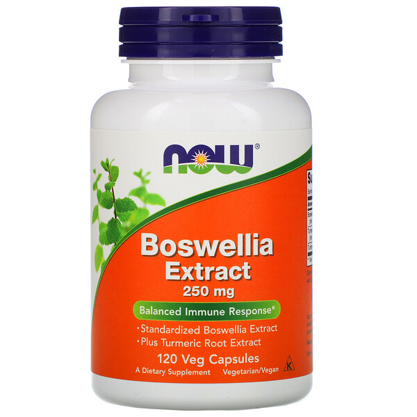Экстракт босвеллии, 250 мг, 120 растительных капсул