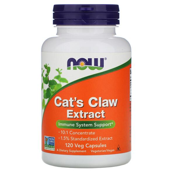 Now Foods, Экстракт кошачьего когтя, 120 растительных капсул