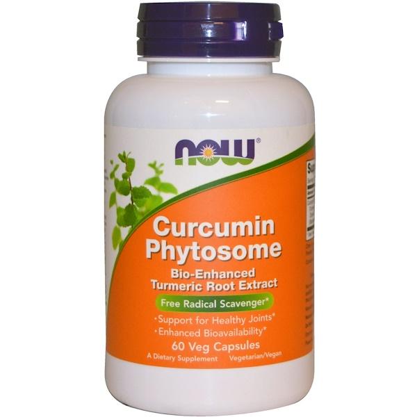 Now Foods, фитосомы куркумина, 60 растительных капсул