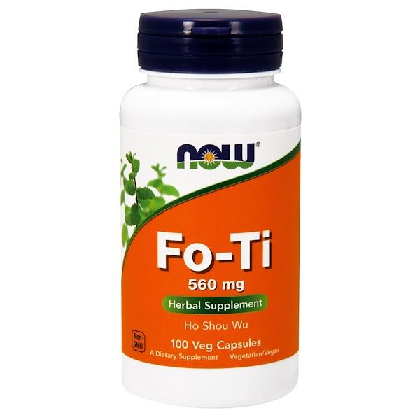 Горец многоцветковый (Fo-Ti, Ho Shou Wu), 560 мг, 100 растительных капсул