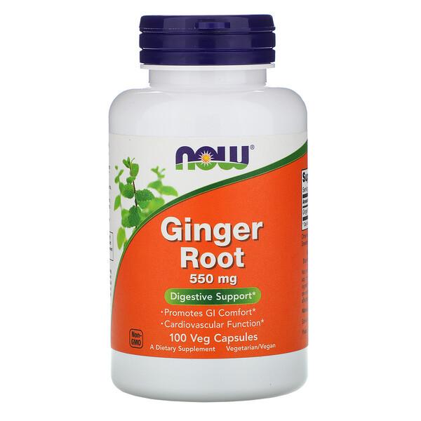 Ginger Root, 550 мг, 100 растительных капсул