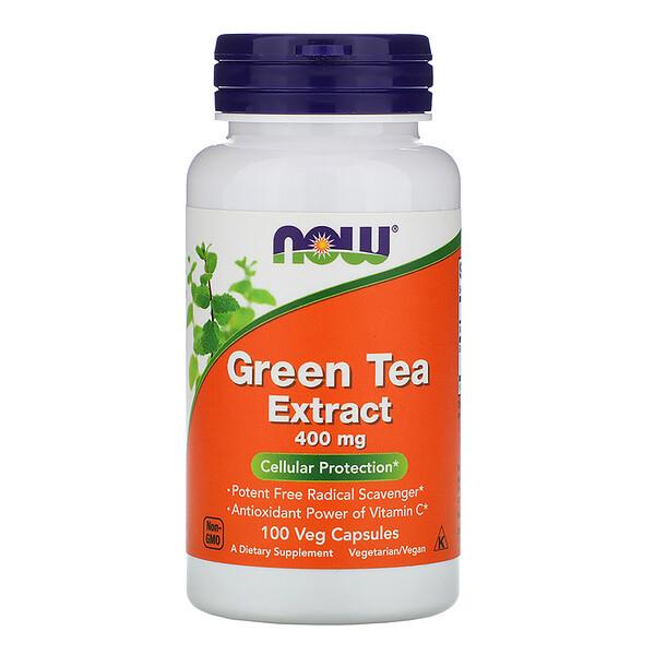 Экстракт зеленого чая, 400 мг, 100 растительных капсул