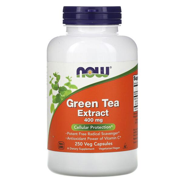 Экстракт зеленого чая, 400 мг, 250 растительных капсул