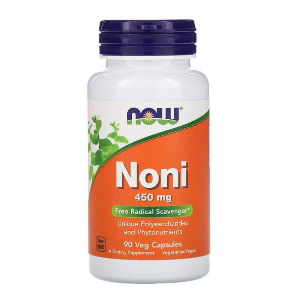 Now Foods, Нони, 450мг, 90 растительных капсул