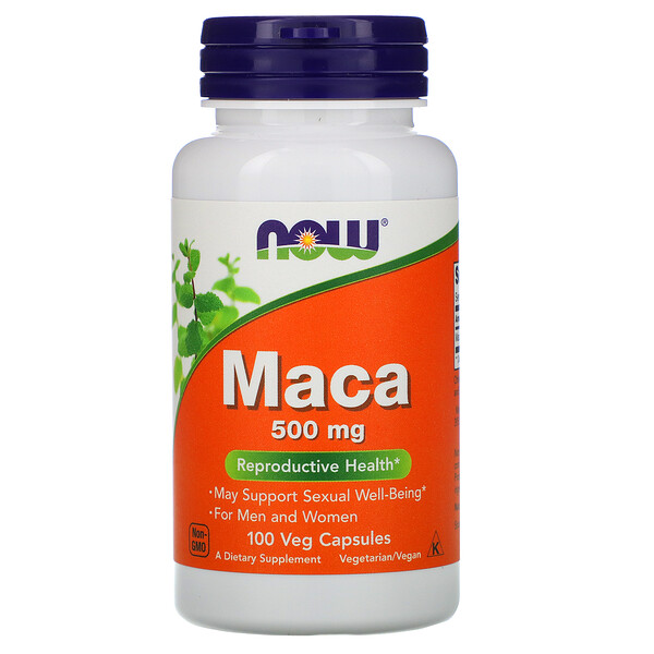 Now Foods, Мака, 500 мг, 100 растительных капсул