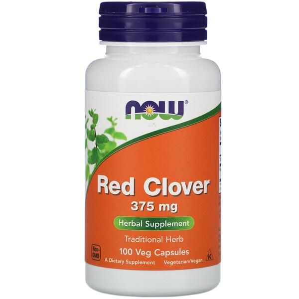 Красный клевер, 375 мг, 100 растительных капсул