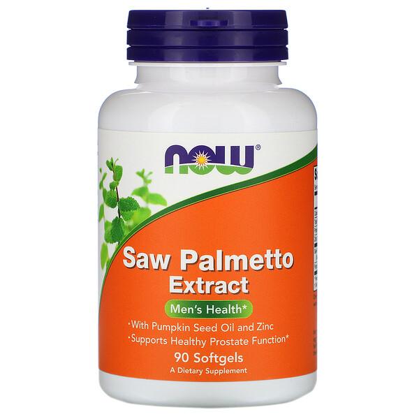 Экстракт плодов пальмы сереноа с маслом тыквенных семечек и цинком, 160 мг, 90 мягких желатиновых капсул