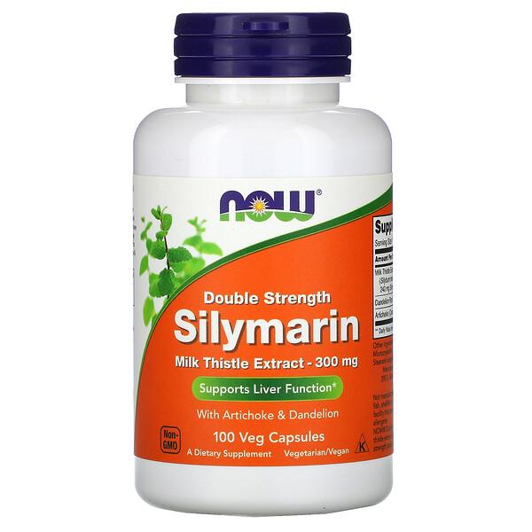 Силимарин, экстракт расторопши, 300мг, 100растительных капсул