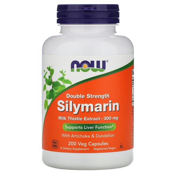 Силимарин двойной концентрации, 300 мг, 200 растительных капсул
