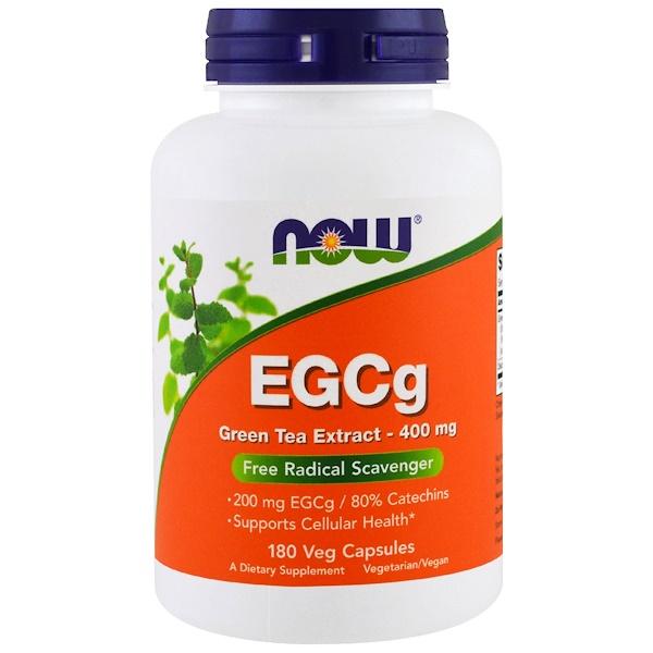 EGCg, экстракт зеленого чая, 400 мг, 180 растительных капсул