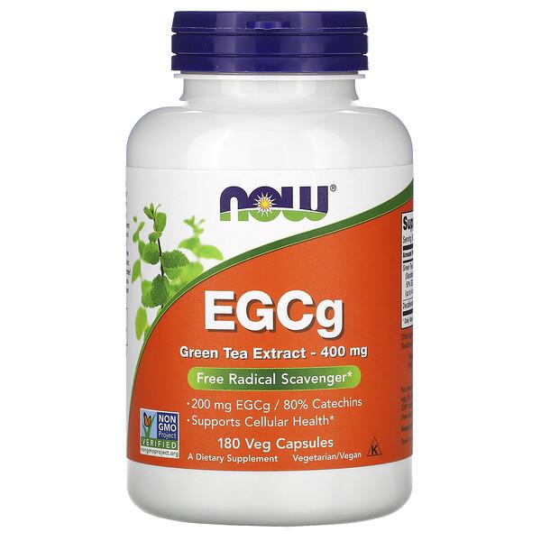 EGCg, экстракт зеленого чая, 400мг, 180растительных капсул